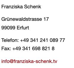 Franziska Schenk Adresse